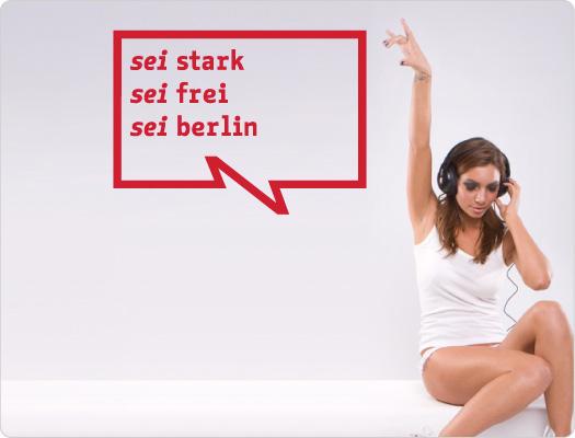 be Berlin Wandtattoo (Leben 2)