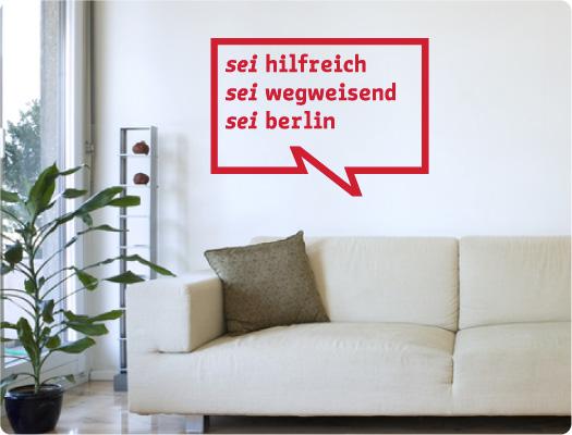 be Berlin Wandtattoo (Wirtschaft 2)