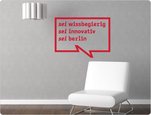be Berlin Wandtattoo (Wissenschaft 1)