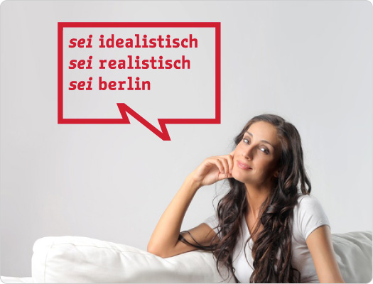 be Berlin Wandtattoo (Wissenschaft 3)